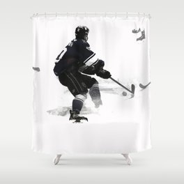 The Deke - Hockey Player Shower Curtain