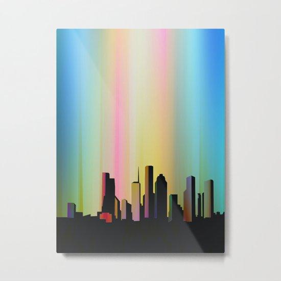 Cityscape through the veil Metal Print