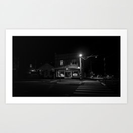 Island Bay at night Art Print