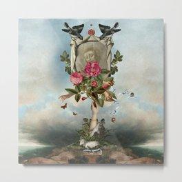Baa-Lambs  & Shroud Metal Print