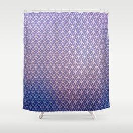 Blue Light Geometric Shower Curtain
