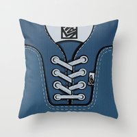 vans Throw Pillows featuring blue Vans shoes iPhone 4 4s 5 5s 5c, ipod, ipad, pillow case and tshirt by Three Second
