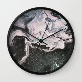 Acrylic marble painting colorful Wall Clock