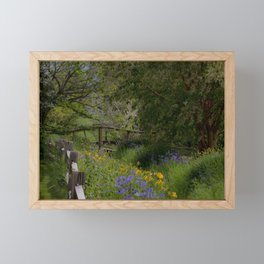 Sprig Blooms at Georgeson Botanical Gardens Framed Mini Art Print
