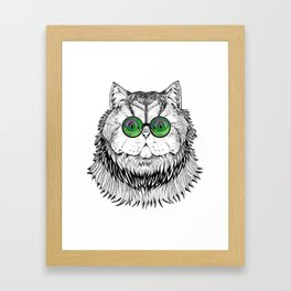 Catty Kitty Chique Framed Art Print