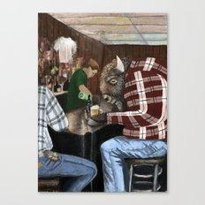 hard day for a Buffalo  Canvas Print