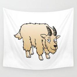 Mountain Goat Mascot Wall Tapestry