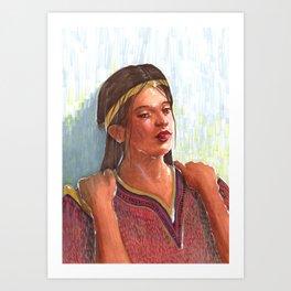 Calming the Queen Art Print
