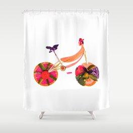 vegetable bike Shower Curtain