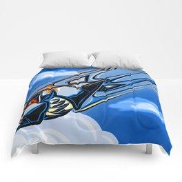 Retro Bomb Falling Comforters