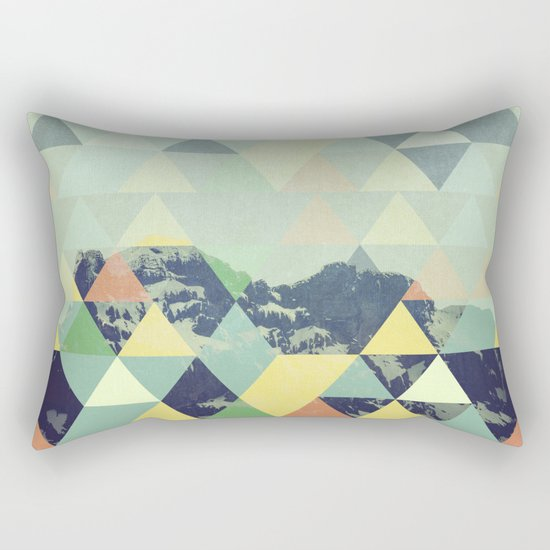 Triangle Mountain II Rectangular Pillow