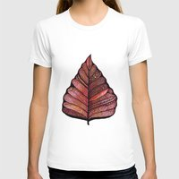 decal T-shirts featuring Modern leaf art | green leaves wall decal | botanical leaf decor | botanical leaves | leaf & plant by WestridgeART