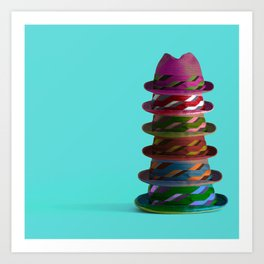 Hat Mountain Art Print