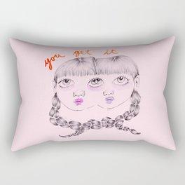 You get it Rectangular Pillow