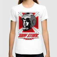 stark T-shirts featuring Tony Stark by Ant Atomic