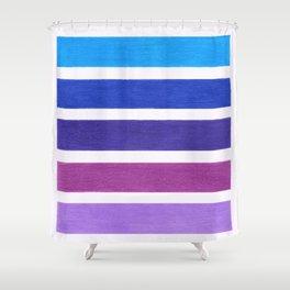 Blue & Purple Pattern Shower Curtain