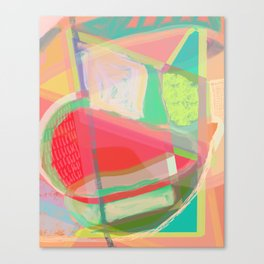 Shapes and Layers no.13 - abstract painting gouache and pastel Canvas Print