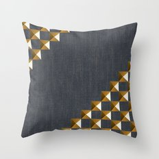 Denim with Gold Studs Throw Pillow