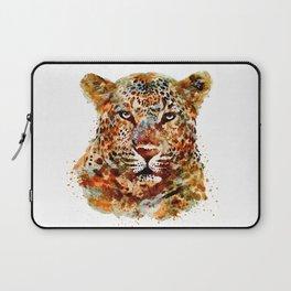 Leopard Head watercolor Laptop Sleeve