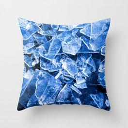 Blue Broken Ice for hot summer days Throw Pillow
