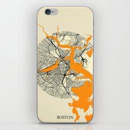Boston Map Moon iPhone Skin
