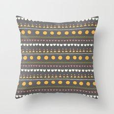 Thankful Rows Throw Pillow