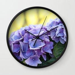 Purple hydrangea(1) Wall Clock