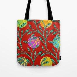 Basketball Flowers Tote Bag