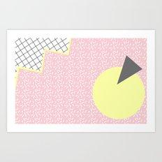 MEMPHIS PINK Art Print