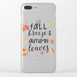 Fall breeze, autumn leaves Clear iPhone Case