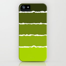 Mustard green stripes iPhone Case