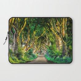 The Dark Hedges, Ireland. (Painting) Laptop Sleeve