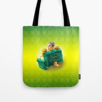 sofa Tote Bags featuring Family sofa by Bakal Evgeny