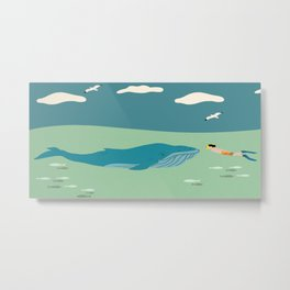A Whale of a Tale Metal Print