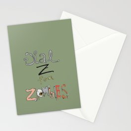 """Dial """"Z"""" for Zombies Stationery Cards"""