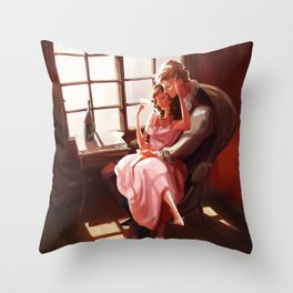 Emma et Leon Throw Pillow