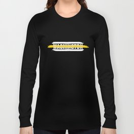 Washington 911 Emergency Dispatcher Gift for Policeman, Cop or State Trooper Thin Gold Line Long Sleeve T-shirt
