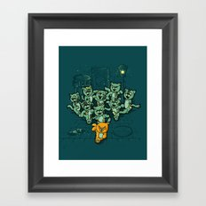 Zombie Cats Framed Art Print