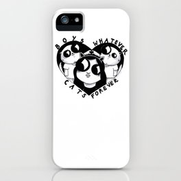 Boys Whatever Cats Forever iPhone Case