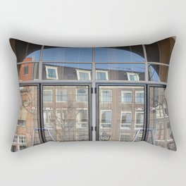 Canal Houses Reflection Rectangular Pillow