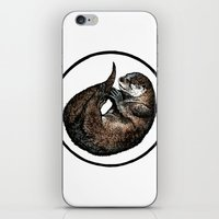 otter iPhone & iPod Skins featuring Otter by Natalie Toms Illustration