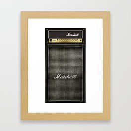 Gray amp amplifier Framed Art Print
