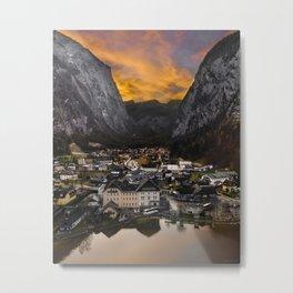 Hallstatt Village in Austria Metal Print