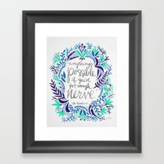 Anything's Possible – Silver & Blue Framed Art Print