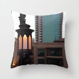 Dubai - Lamp outside Burj Al Arab Throw Pillow