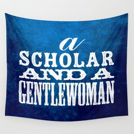 A Scholar and a Gentlewoman Wall Tapestry