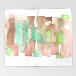 [161228] 8. Abstract Watercolour Color Study |Watercolor Brush Stroke Throw Blanket