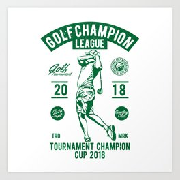 Golf Champion League Art Print