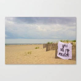 You Are My Vacation, The Unravel, Silk Graffiti by Aubrie Costello Canvas Print