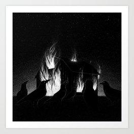 Drawlloween 2015: Raven Art Print